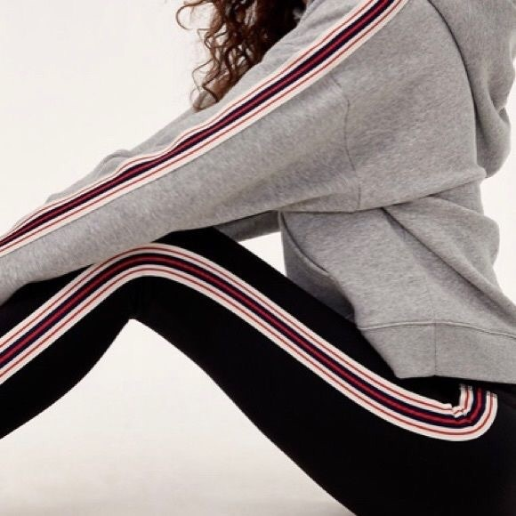 0ed5ae7ec7822 Aritzia Pants | Tna Athletic Stripe High Rise Workout Leggings ...
